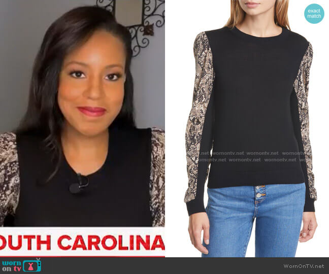 Adler Sweater by Veronica Beard worn by Sheinelle Jones  on Today