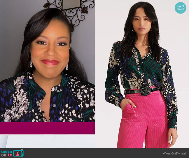 Buckley Top by Veronica Beard worn by Sheinelle Jones  on Today