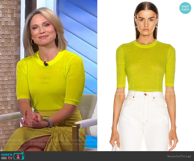 Dean Sweater by Veronica Beard worn by Amy Robach  on Good Morning America