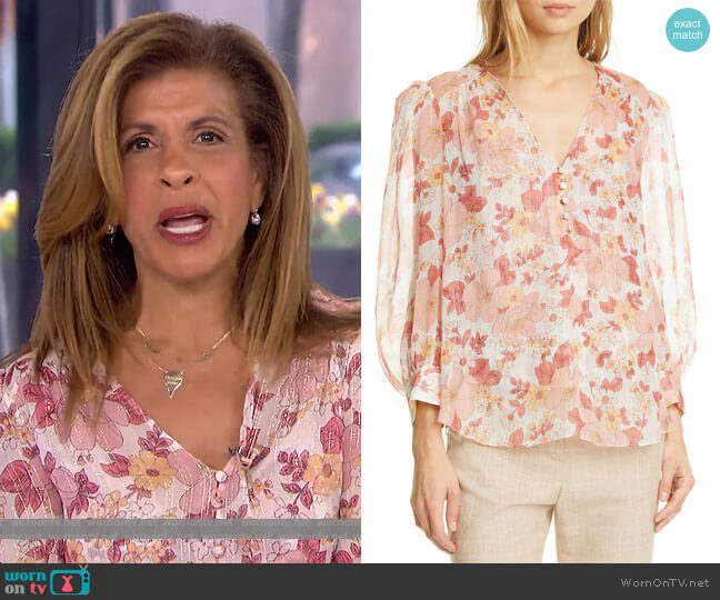 Milan Floral Top by Veronica Beard worn by Hoda Kotb  on Today