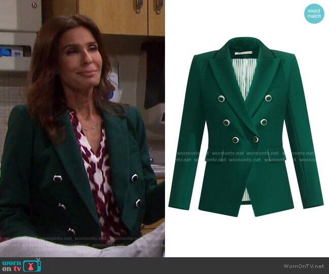 Miller Dickey Jacket by Veronica Beard worn by Hope Williams (Kristian Alfonso) on Days of our Lives