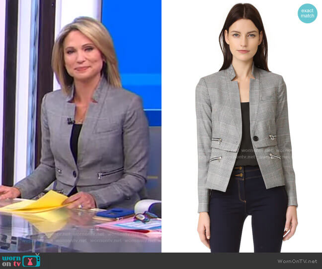 Paloma Zipper Jacket by Veronica Beard worn by Amy Robach  on Good Morning America