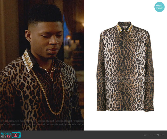 Leopard Print Shirt by Versace worn by Hakeem Lyon (Bryshere Y. Gray) on Empire
