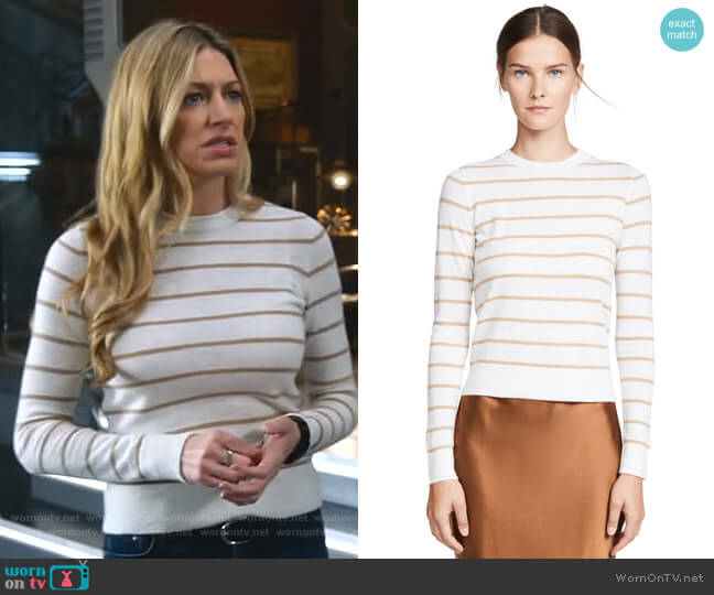 Striped Cashmere Sweater by Vince worn by Ava Sharpe (Jes Macallan) on Legends of Tomorrow