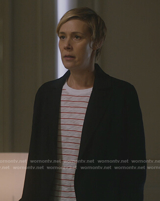 Bonnie's white striped tee on How to Get Away with Murder