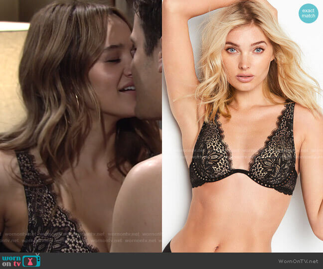 Wicked Unlined Plunge Bra by Victorias Secret worn by Summer Newman (Hunter King) on The Young & the Restless