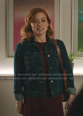 Zoey's denim jacket on Zoeys Extraordinary Playlist