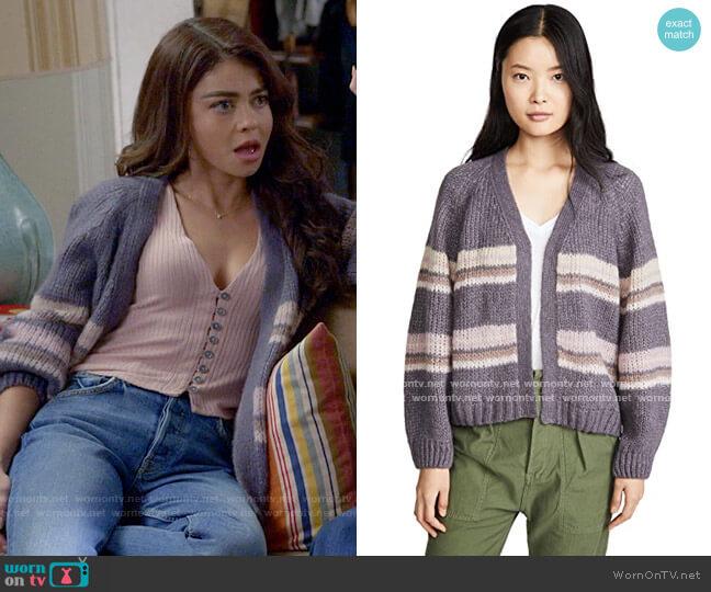 Xirena Kirkwood Cardigan worn by Haley Dunphy (Sarah Hyland) on Modern Family