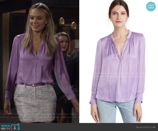 Tink Satin Tunic by Zadig &Voltaire worn by Abby Newman (Melissa Ordway) on The Young & the Restless