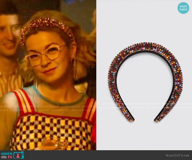 Zara Bejeweled Padded Headband worn by Pepper Smith (Julia Chan) on Katy Keene