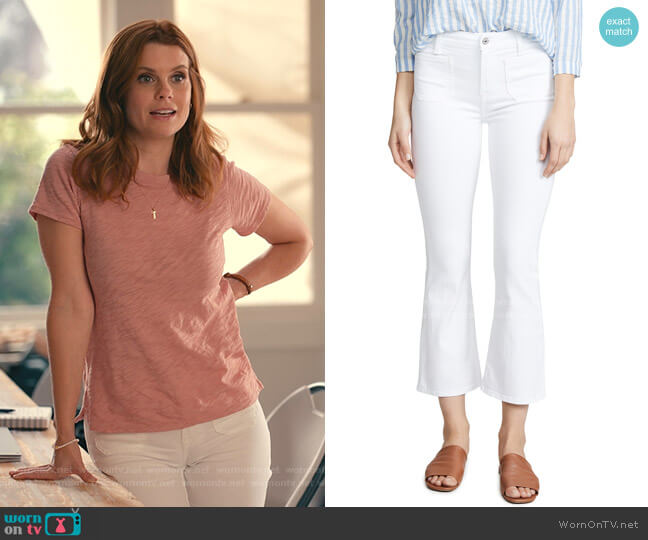 High Waist Slim Kick Jeans by 7 For All Mankind worn by Maddie Townsend (JoAnna Garcia Swisher) on Sweet Magnolias