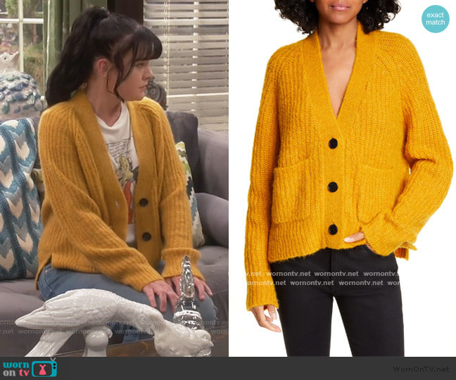 Cleveland Button Cardigan by A.L.C. worn by Jackie (Pauley Perrette) on Broke