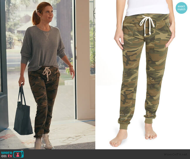 Long Weekend Camo Lounge Pants by Alternative worn by Maddie Townsend (JoAnna Garcia Swisher) on Sweet Magnolias