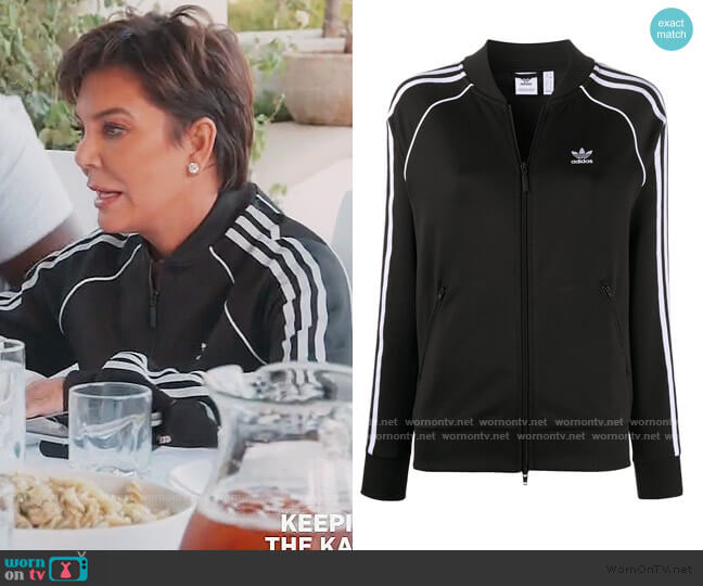 SST Track Jacket by Adidas worn by Kris Jenner  on Keeping Up with the Kardashians