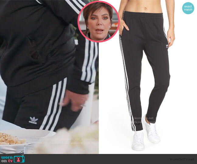 SST Track Pants by Adidas worn by Kris Jenner  on Keeping Up with the Kardashians