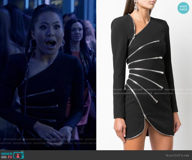 Zipped Mini Dress by Alexander Wang worn by Mary Hamilton (Nicole Kang) on Batwoman