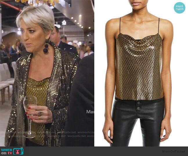 Misti Metallic Blazer by Sonja worn by Dorinda Medley  on The Real Housewives of New York City