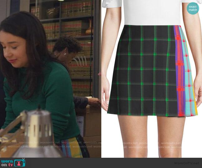 Semira Pleated Skirt by Alice + Olivia worn by Marissa Gold (Sarah Steele) on The Good Fight