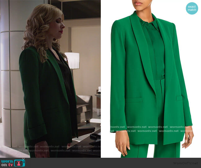 Kylie Shawl-Collar Blazer and Pants by Alice + Olivia worn by Cara Buono on Supergirl