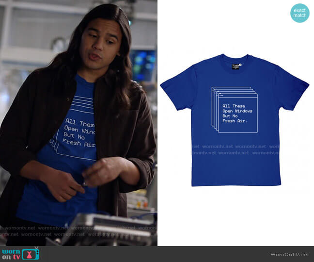 All These Open Windows But No Fresh Air T-Shirt by T34 worn by Cisco Ramon (Carlos Valdes) on The Flash