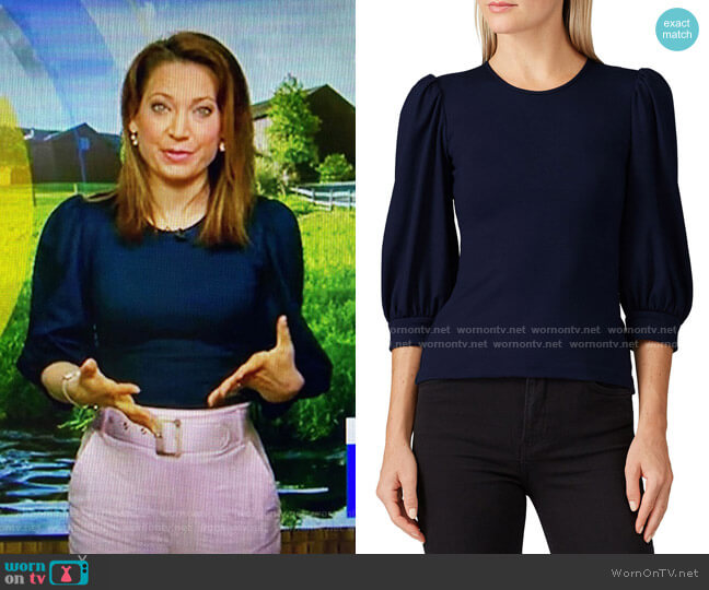 Jilly Top by Amanda Uprichard worn by Ginger Zee  on Good Morning America