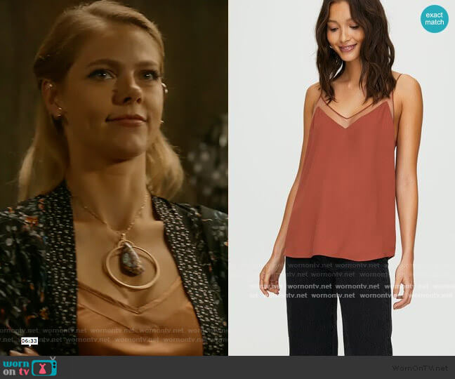 Galen Camisole by Babaton at Aritzia worn by Isobel Evans-Bracken (Lily Cowles) on Roswell New Mexico