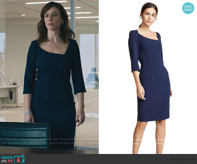 Derek Sheath Dress by Black Halo worn by Wendy Rhoades (Maggie Siff) on Billions