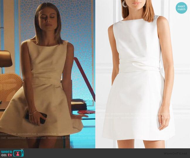 Silk-faille mini dress by Brandon Maxwell worn by Noa Hamilton (Nathalie Kelley) on The Baker & the Beauty