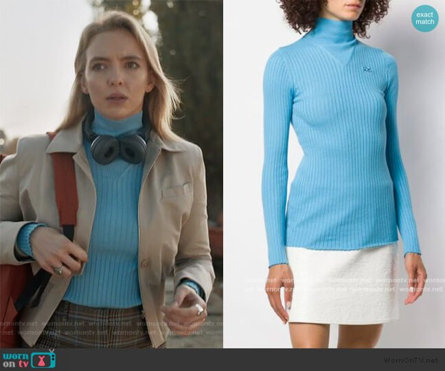Turtleneck Sweatshirt by Courreges worn by Villanelle (Jodie Comer) on Killing Eve