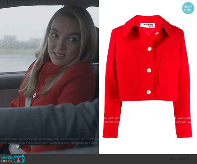 Button-Up Jacket by Courreges worn by Villanelle (Jodie Comer) on Killing Eve