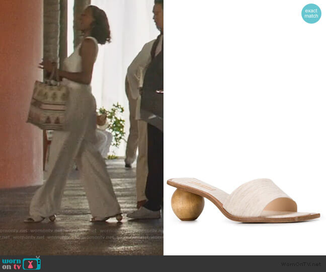 Tao Sandals by Cult Gaia worn by Molly Carter (Yvonne Orji) on Insecure