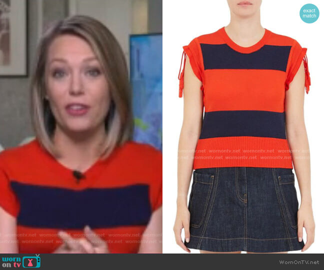 Rugby Stripe Tee by Carven worn by Dylan Dreyer  on Today