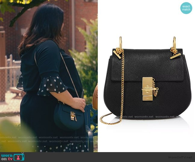 Drew Small Saddle Shoulder Bag by Chloe worn by Dana Sue Sullivan (Brooke Elliott) on Sweet Magnolias