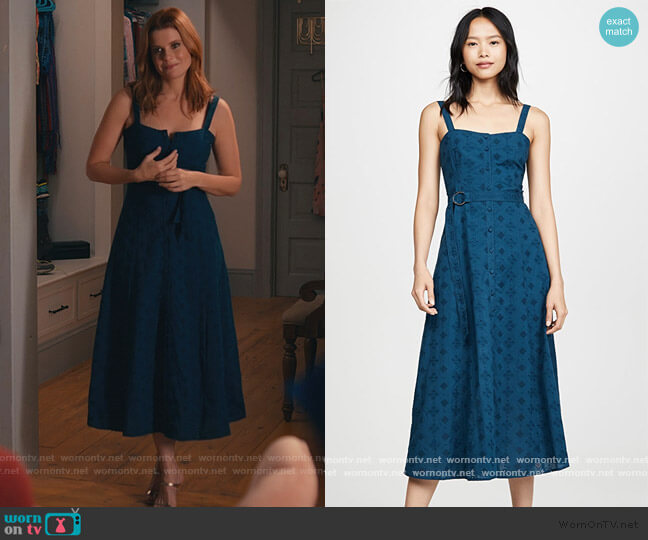Tous Les Jours Alix Dress by Cinq a Sept worn by Maddie Townsend (JoAnna Garcia Swisher) on Sweet Magnolias