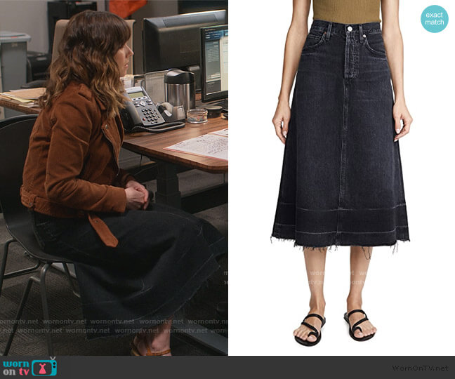 Florence Skirt by Citizens of Humanity worn by Judy Hale (Linda Cardellini) on Dead to Me