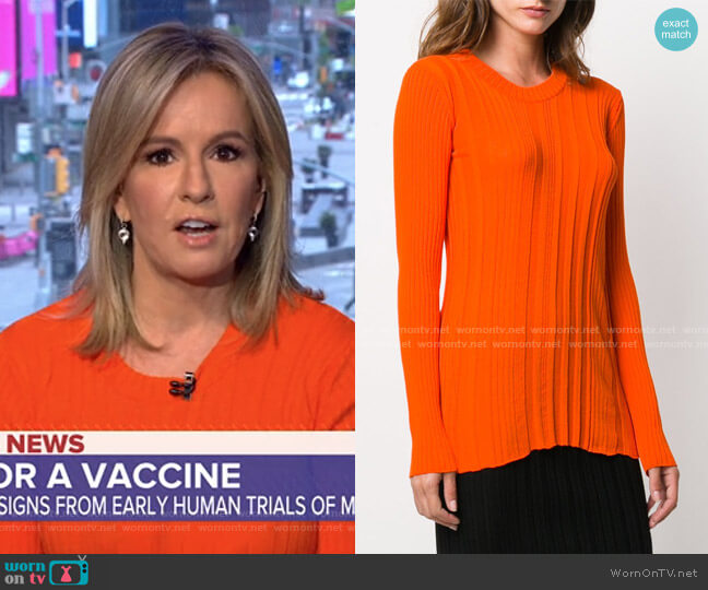 Ribbed Knit Jumper by Courreges worn by Dr. Jennifer Ashton on GMA