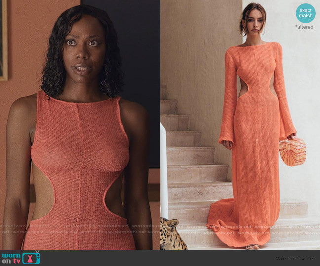 Kamira Dress by Cult Gaia worn by Molly Carter (Yvonne Orji) on Insecure