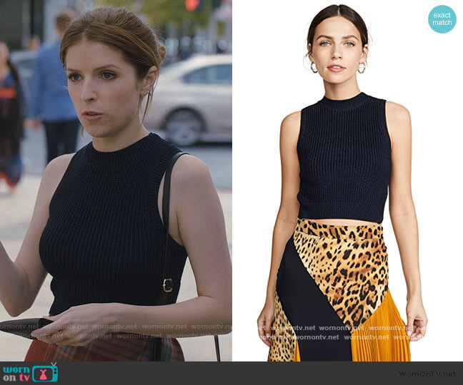 Sleeveless Cropped Knit Top with V at Back by Cushnie worn by Darby (Anna Kendrick) on Love Life
