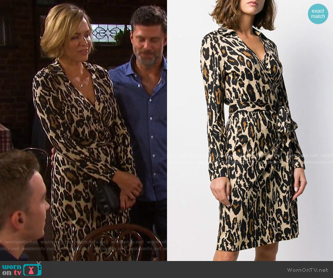 Jeanne Silk Wrap Dress by Diane von Furstenberg worn by Nicole Walker (Arianne Zucker) on Days of our Lives