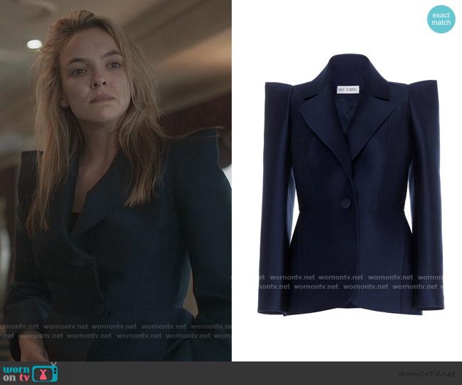 Virgin Wool Structured Blazer by Dice Kayek worn by Villanelle (Jodie Comer) on Killing Eve