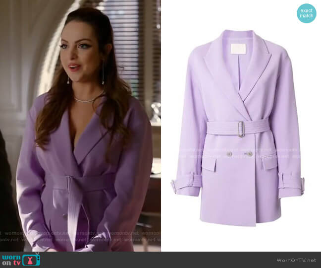 Suit Jacket Dress by Dion Lee worn by Fallon Carrington (Elizabeth Gillies) on Dynasty