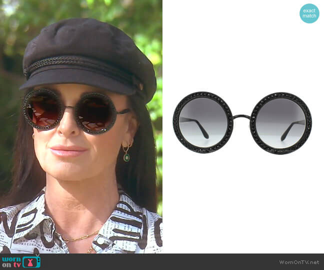 DG 2170B Sunglasses by Dolce & Gabbana worn by Kyle Richards  on The Real Housewives of Beverly Hills