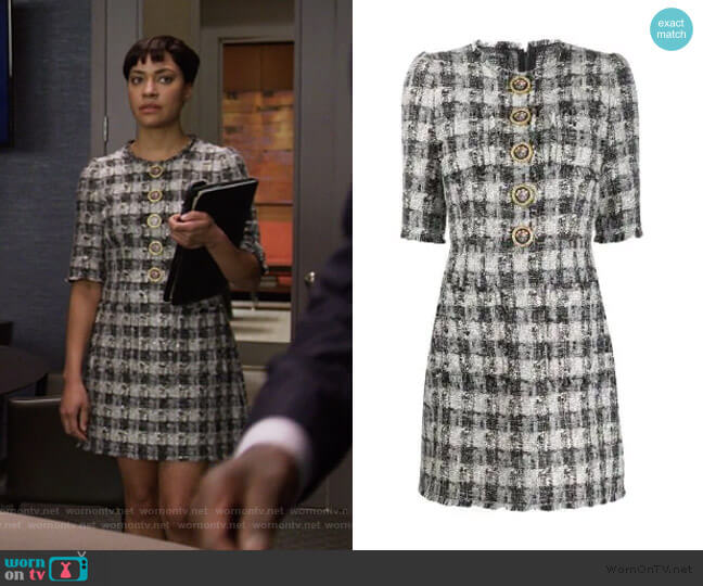 Tweed Short Dress by Dolce & Gabbana worn by Lucca Quinn (Cush Jumbo) on The Good Fight
