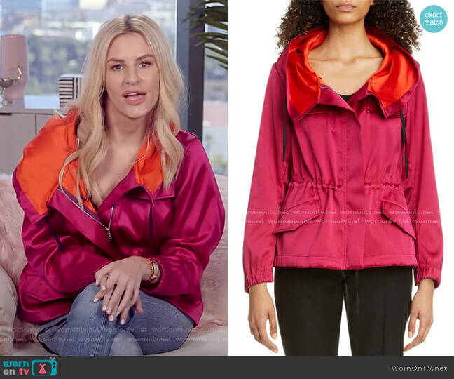 Valera Colorblock Anorak by Dries van Noten worn by Morgan Stewart  on E! News