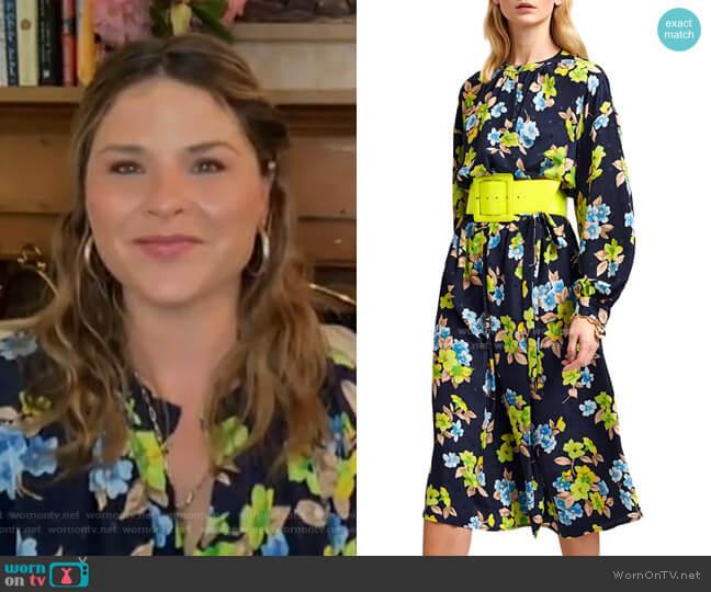Velodie Long Wrap Dress by Essentiel Antwerp worn by Jenna Bush Hager  on Today