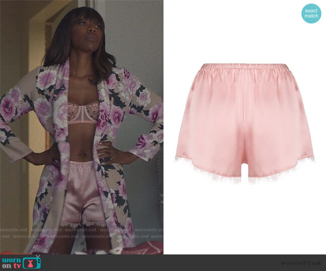 Lace Trim Tap Shorts by Fleur Du Mal worn by Molly Carter (Yvonne Orji) on Insecure