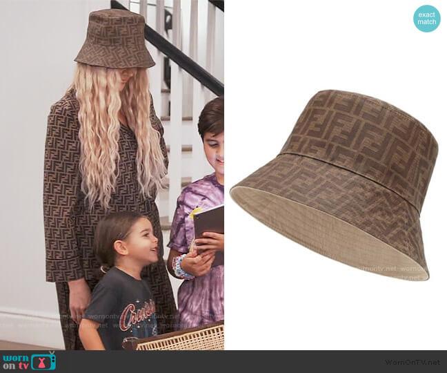 Reversible Bucket Hat by Fendi worn by Khloe Kardashian  on Keeping Up with the Kardashians
