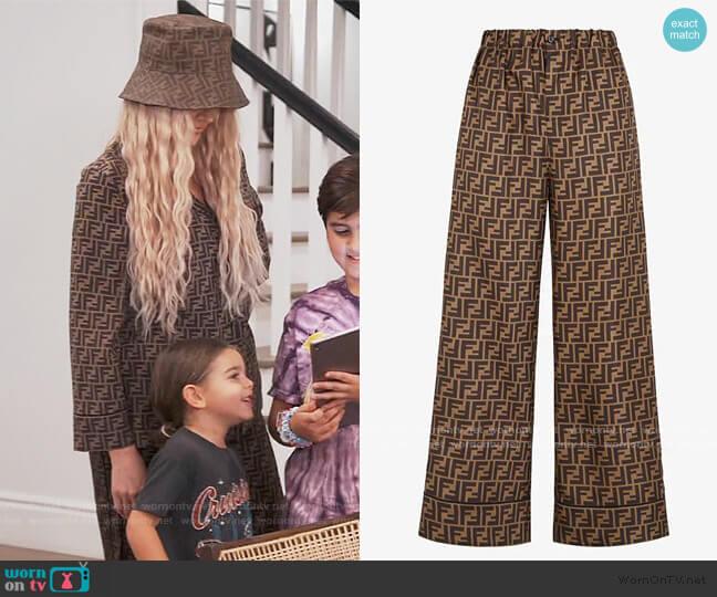 FF Pants by Fendi worn by Khloe Kardashian  on Keeping Up with the Kardashians