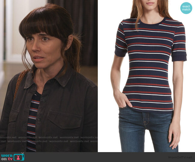 70s Fitted Tee by Frame worn by Judy Hale (Linda Cardellini) on Dead to Me