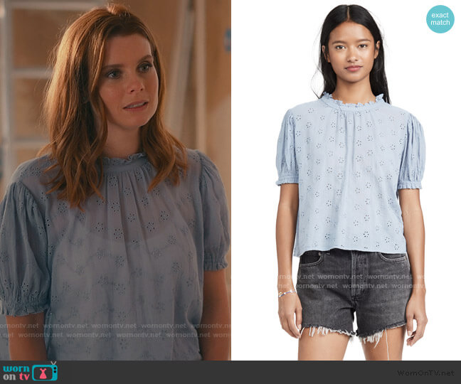Letters To Juliet Top by Free People worn by Maddie Townsend (JoAnna Garcia Swisher) on Sweet Magnolias
